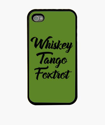 Coque iPhone whisky tango foxtrot wtf shirt avec tex