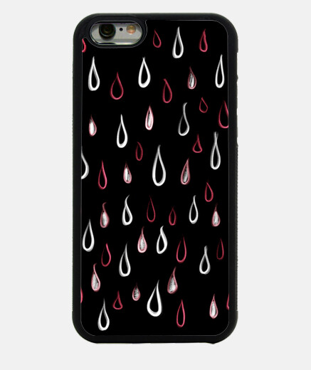 White And Red Raindrops Pattern