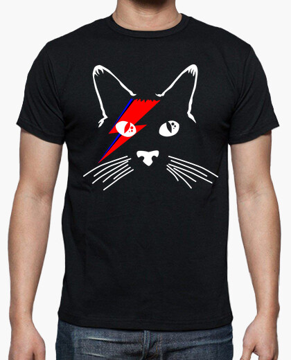 White cat bowie one t-shirt