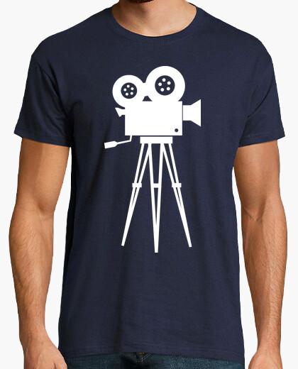 White cinema camera t-shirt