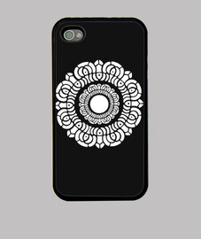 White Lotus iphone 4 case black