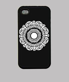 white lotus iphone 4 noir