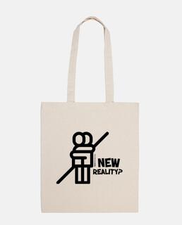 white new reality bag