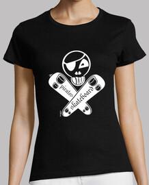 White pirate skateboard