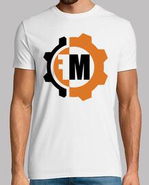 white shirt - logo front