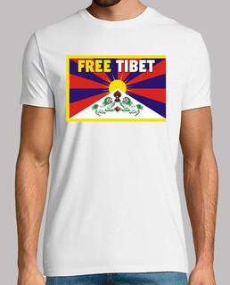 white shirt manga short unisex - free tibet