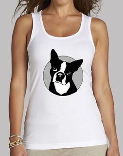 White strapless model 'bulldog franes'