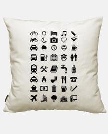 white travelers emoticons shirt