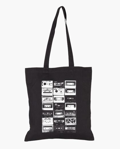 White vintage cassettes 2 bag