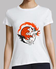 White Wolf Goddess womans shirt