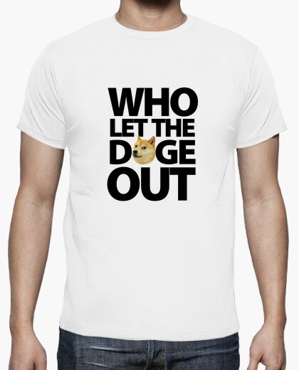 Camiseta Who Let The Doge Out - Negro