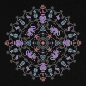 Camisetas Wiccan Mandala - Color