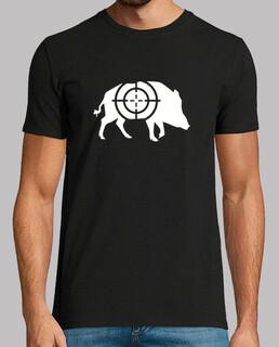 Wild boar crosshairs