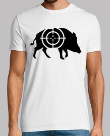wild boar hunter crosshairs