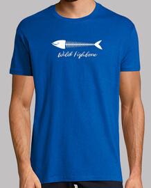 Wild Fishbone Hombre, manga corta, azul royal, calidad extra