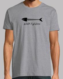 Wild Fishbone Hombre, manga corta, gris vigoré, calidad extra