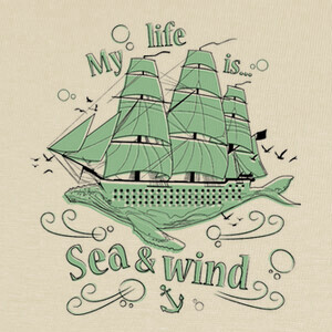 Camisetas My life is sea and wind