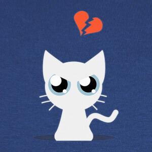 Camisetas Cat White Broken Heart