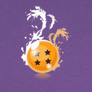 Camisetas Dragon Ball 4 Stars Black