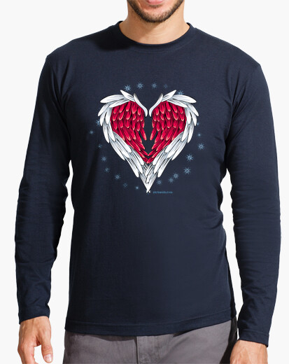 Wings heart t-shirt