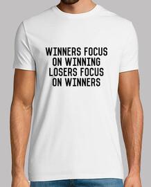 Winners Focus On Winning Losers Focus On Winners, blanca, calidad extra