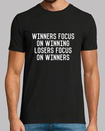 Winners Focus On Winning Losers Focus On Winners, negra, calidad extra