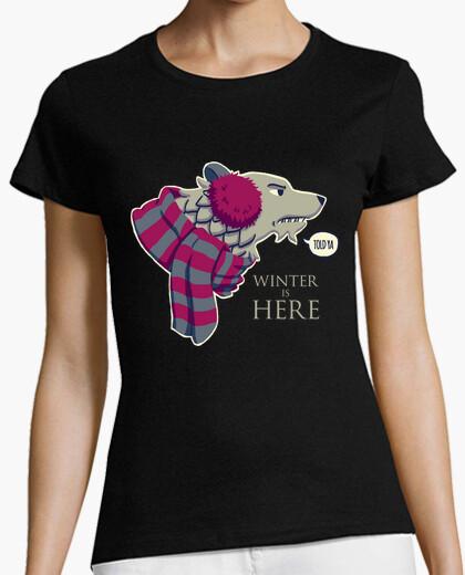 Winter Is Here Lobo Stark Camiseta