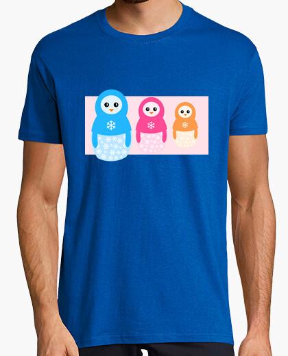 Camiseta Winter matrioshka candy penguins