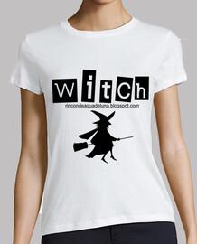 Witch.. Mujer, Manga corta, Blanca