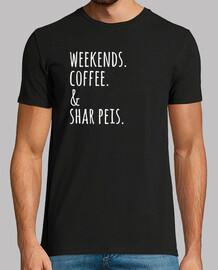 Wochenenden Kaffee Shar Pei