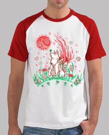 wolf blossom breeze - camiseta de béisbol para hombre