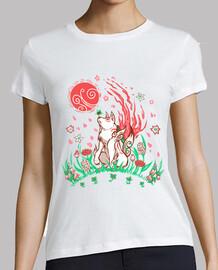 Wolf Blossom Breeze - Womans shirt