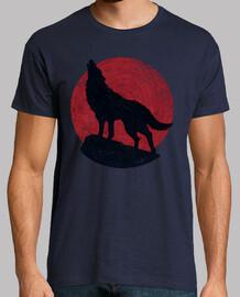 wolf und der rote mond
