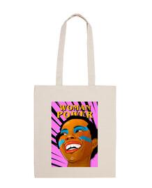 woman power - sac en tissu 100% coton