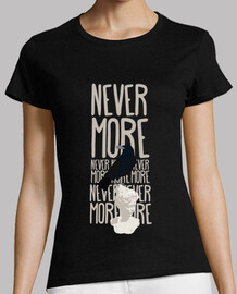 woman t-shirt - never more
