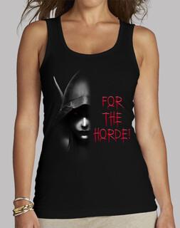 women's t-shirt sylvanas b & n for the horde!