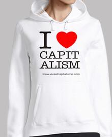 Women, hoodie, white