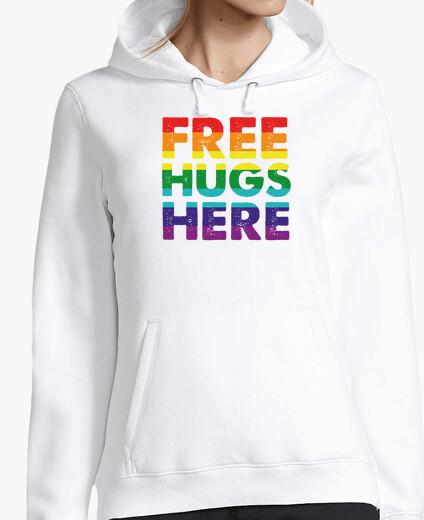 Women, hoodie, white hoody