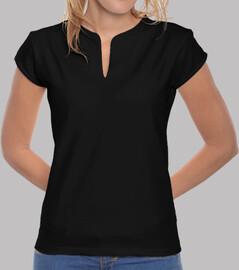Women, mandarin collar, black