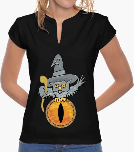 Women, mandarin collar, black t-shirt