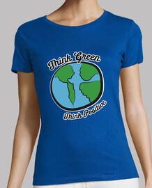 Women, short sleeve, green premium quality