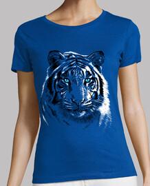 Women, short sleeve, royal blue, premium quality