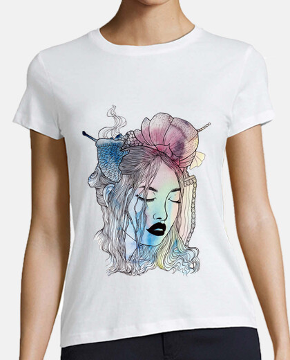 Women, short sleeve, white, premium quality