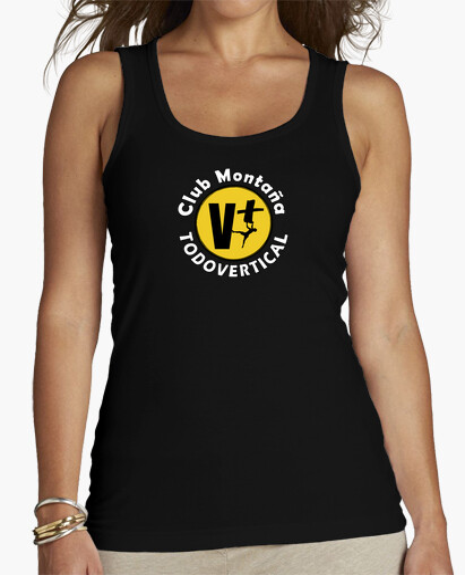 Women, Tank top, Black t-shirt