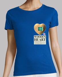 wooden heart woman