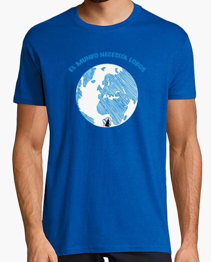 World needs wolves, men's t shirt t-shirt