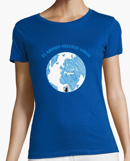 World needs wolves, women's t shirt ....