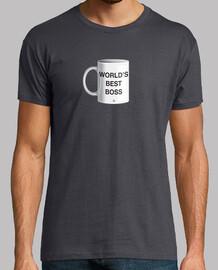 Worlds best boss camiseta hombre