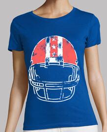 worn football helmet colored