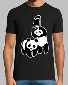 wrestling panda
